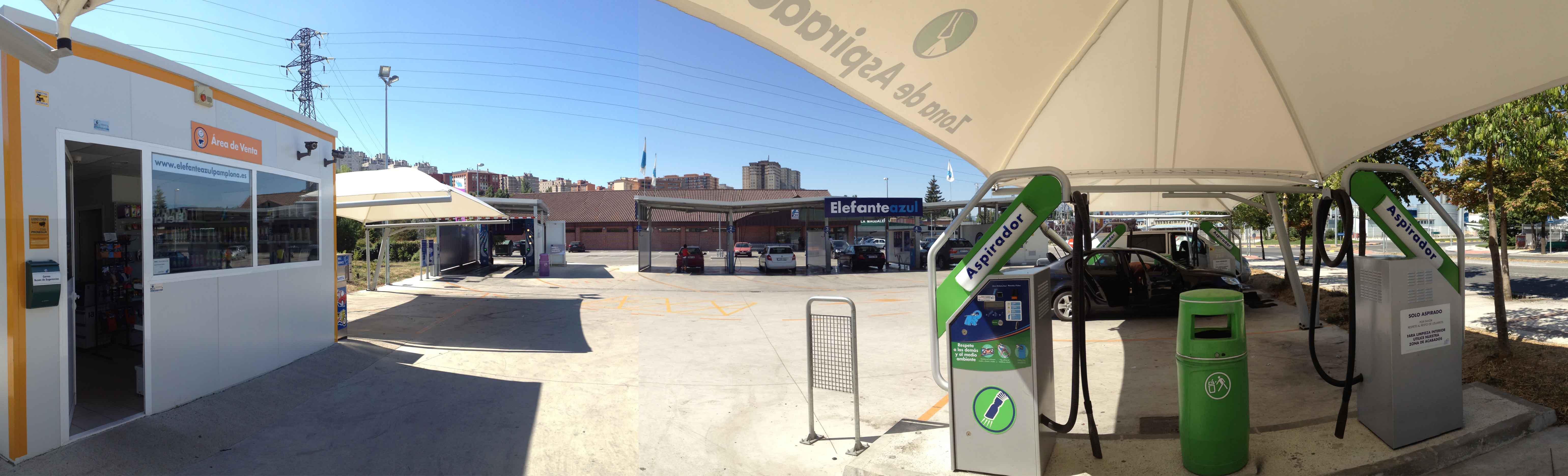 Centro de lavado de coches Elefante Azul Pamplona